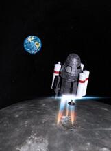 Space Shuttle Landing On The Moon