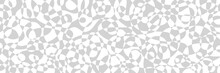 Vector Freehand Illustration Of Pattern With Optical Illusion. Op Art Abstract Background. Long Horizontal Banner.