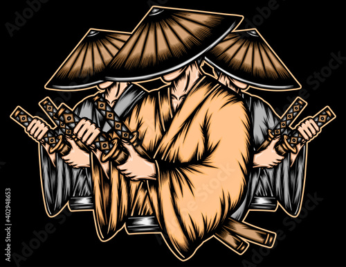 Slika na platnu Gangster japanese ronin