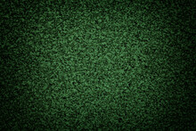 Grainy Green Background Of Tabletop With Dark Vignette. Texture Abstract Surface