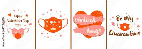 Fotografía Covid Valentines card set