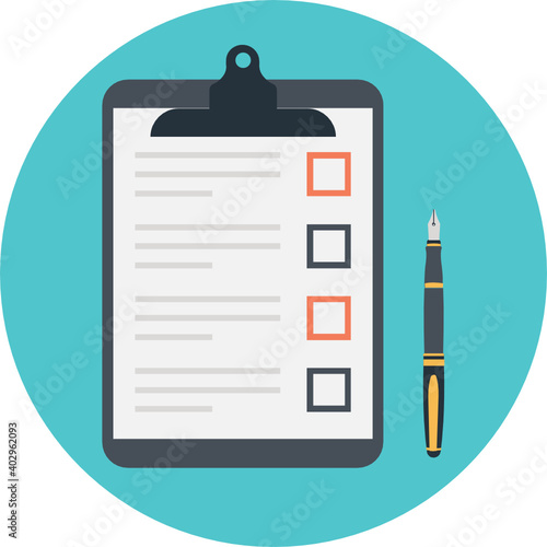 Obraz Todo list and planning project with office supplies, clipboard with blank checklist vector illustration  - fototapety do salonu