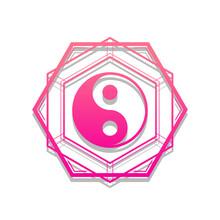 Tai Chi Symbol Good Evil Karma Icon. Yin Yang Symbol