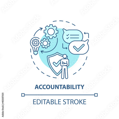 Fotografering Accountability concept icon