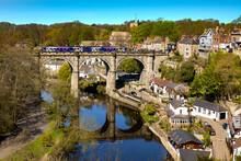 Railway Bridge In Knaresborough, Yorkshire, England