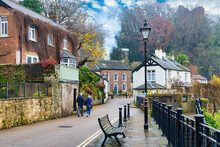 Waterside Street In Knaresborough, Yorkshire, England