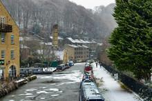 Hebden Bridge In January, West Yorkshire, England