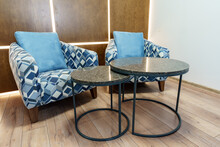 Office Waiting Area With Arm Chairs And Coffee Table