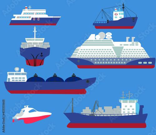 Canvas Maritime ships flat