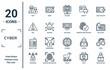 cyber linear icon set. includes thin line theft, risk, identity theft, passwords, woman online, keylogger, crime icons for report, presentation, diagram, web design