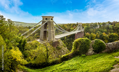 Canvas Print A view from Sion Hill adjacent to the Observatory over the Avon Gorge towards th
