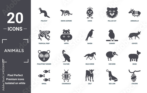 animals icon set Fototapet