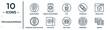 programming linear icon set. includes thin line development, css, simulation, duplicate, hardware, server, biometric identification icons for report, presentation, diagram, web design