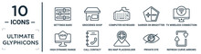 Ultimate.glyphicons Linear Icon Set. Includes Thin Line Settings Bars, Computer Keyboard, Tv Wireless Connection, Call Contact, Private Eye, Refresh Curve Arrows, High Dynamic Range Imaging Icons