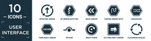 Filled User Interface Icon Set. Contain Flat Updating Arrow, Up Arrow With Ray Tracing, Back Arrow, Curved With Broken Line, Crossover, Turn Right With Broken Line, Detour, Right Curve, 3d Turn.