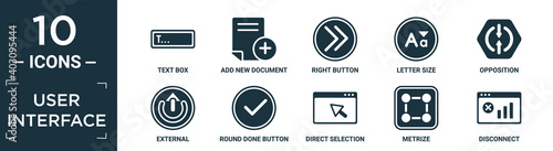 Obraz na plátně filled user interface icon set