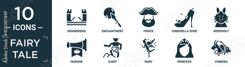 Photographie filled fairy tale icon set