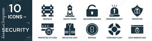 Slika na platnu filled security icon set