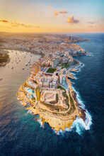 Valletta, Malta During Sunset, Taken In November 2020