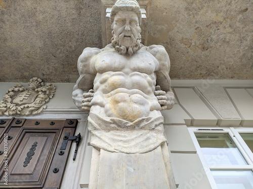 Greek mythology blended into the building