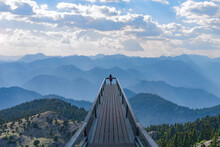 Watching The Magnificent And Enchanting Mountain Ranges From The Top Viewing Terrace