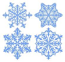 Beautiful Ornaments In The Form Of A Snowflake