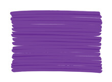 Purple Vector Background Hand-drawn With Marker Pen. Can Be Repainted In Any Other Color. The Stripes Overlapping Each Other Create Darker Spots. Stylish Design Highlight Elements. Copy Space For Text