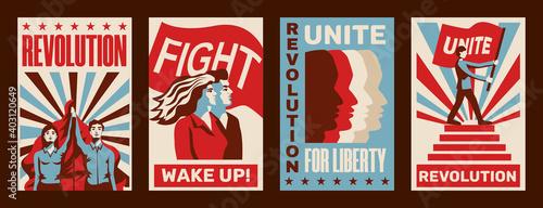 Obraz na plátně Revolution Posters Set