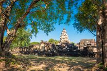 Prasat Hin Phanom Wan Historical Park, Nakhon Ratchasima, Thailand. Built From Sandstone In Ancient Khmer Times