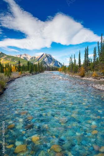 Beautiful mountain river in Alberta, Canada
