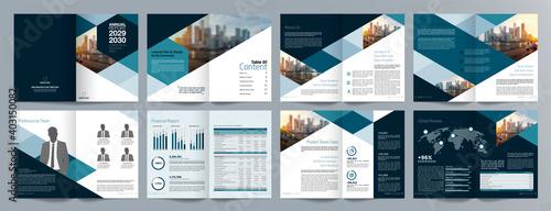 Tela Corporate business presentation guide brochure template, Annual report, 16 page minimalist flat geometric business brochure design template, A4 size