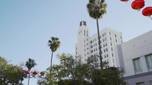 Clock Tower Building View From Third Street In Santa Monica