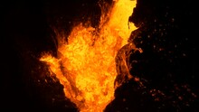 Epic Boiling Lava Fissure On The Big Island Of Hawaii