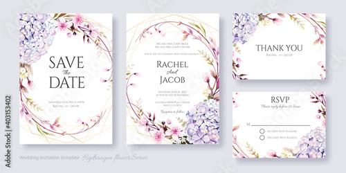 Obraz na plátně Wedding Invitation, save the date, thank you, RSVP card Design template
