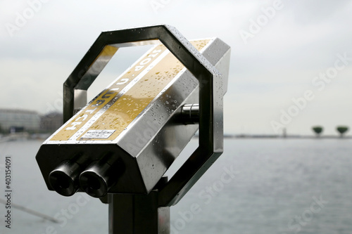 Photo Spyglass on the embankment of Lake Geneva
