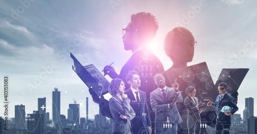 Fototapeta グローバルビジネス ビジネスネットワーク 経営戦略 obraz