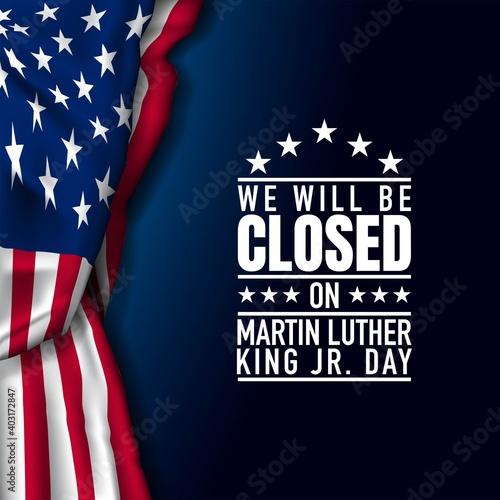 Fototapeta Martin Luther King Jr. Day Background. Vector Illustration. obraz