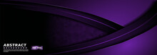 Luxurious Dark Purple Lines And Shape Background Design. Usable For Background, Wallpaper, Banner, Poster, Brochure, Card, Web, Presentation.