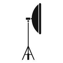 Video Light Stand Icon. Simple Illustration Of Video Light Stand Vector Icon For Web Design Isolated On White Background