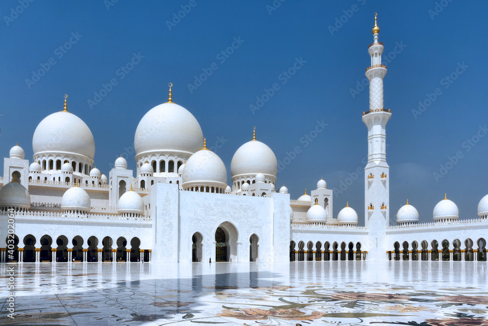 Fotografia Grande mosquée Cheikh Zayed.Abou Dabi, Émirats arabes unis