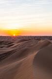 abu dhabi desert sunset