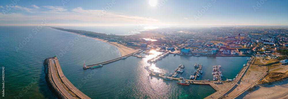 Fototapeta View of the fishing port in Władysławowo