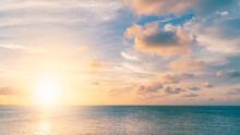 Sunset Sky Over The Sea