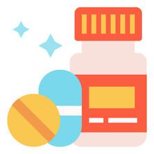 Vitamin Icon For Webpage, Application, Card, Printing, Social Media, Posts Etc.