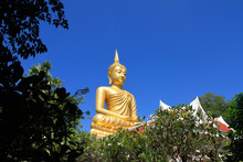 Big Buddha Temple, The Reigning Buddha Image For 60 Years, Is Located In Khueng Nai District Ubon Ratchathani Province, Thailand