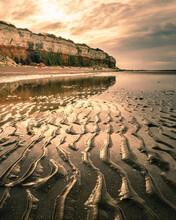Low Tide At Hunstanton Beach At Sunrise
