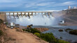Clanwilliam Dam Sluice running with water