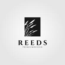 Reeds Logo Vector Minimalist Illustration Design