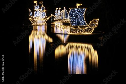 Fototapeta Oliwa Park - ozdoby świąteczne obraz na płótnie