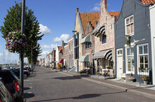 Boulevard New Harbor Zierikzee With Characteristic Homes